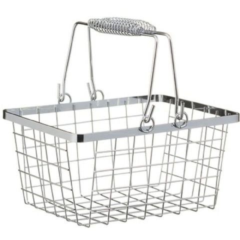 Wire Shopping Basket Storage Chrome